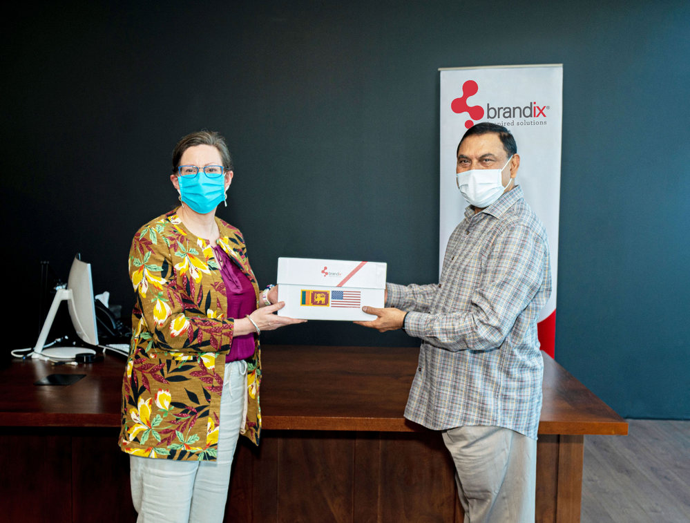 Brandix hands over face masks for export